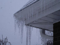 Home inspection revealed Icy Gutters